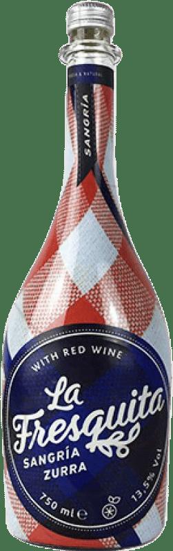 8,95 € Envío gratis | Sangría Sort del Castell La Fresquita Zurra España Botella 75 cl