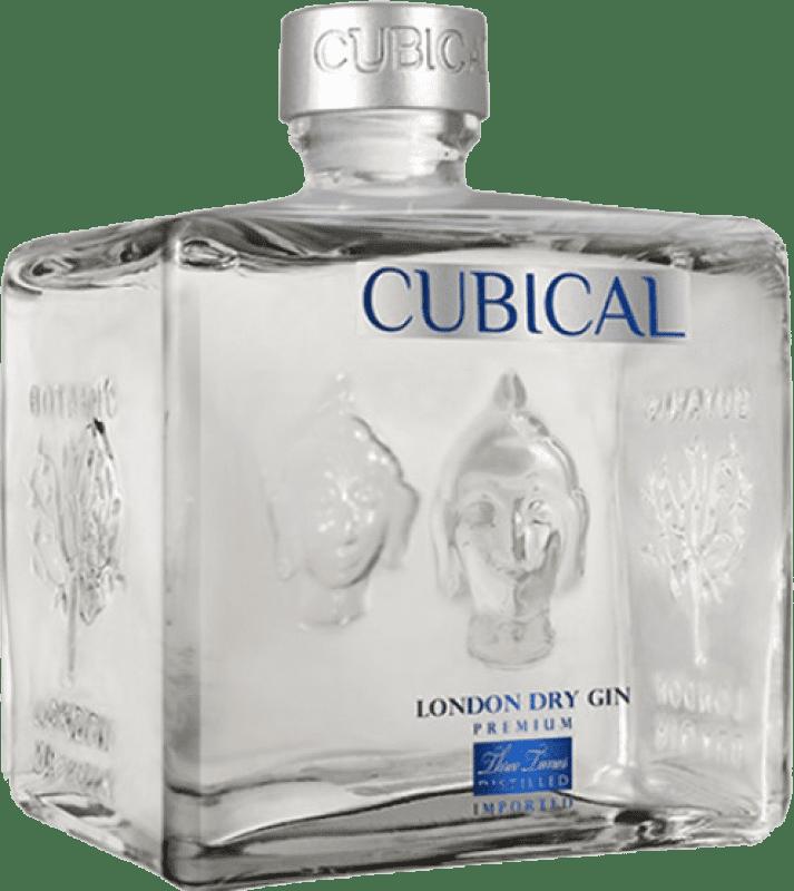 26,95 € Envío gratis | Ginebra Williams & Humbert Cubical Premium España Botella 70 cl