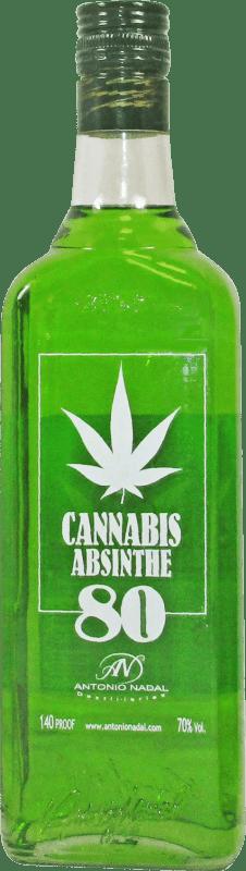 18,95 € Envío gratis | Absenta Antonio Nadal 80 Cannabis España Botella 70 cl