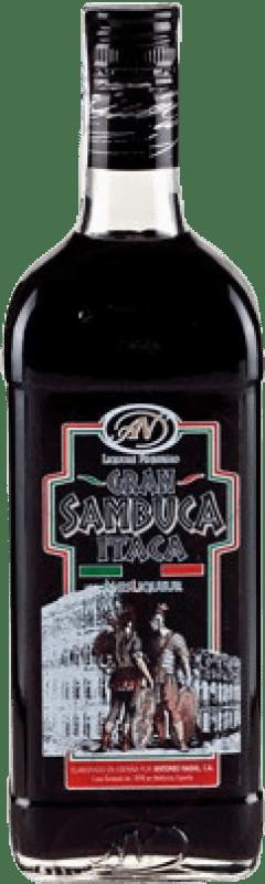 11,95 € Envío gratis | Anisado Antonio Nadal Sambuca Itaca Black España Botella 70 cl