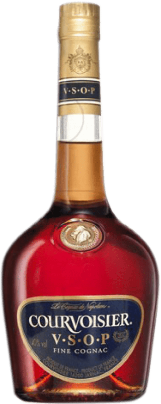 35,95 € Envío gratis | Coñac Courvoisier V.S.O.P. Very Superior Old Pale Francia Botella Misil 1 L
