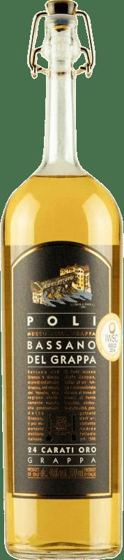 26,95 € Envío gratis | Grappa Poli Bassano 24 Carati Oro Italia Botella 70 cl