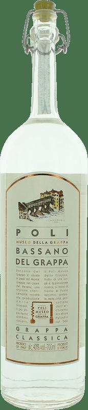 25,95 € Free Shipping | Grappa Poli Bassano Classica Italy Bottle 70 cl