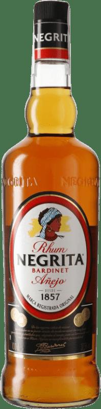 13,95 € 免费送货 | 朗姆酒 Bardinet Negrita Añejo 西班牙 瓶子 Misil 1 L