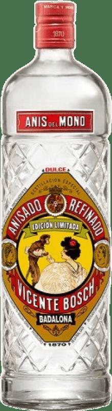 11,95 € Envío gratis | Anisado Anís del Mono Dulce España Botella Misil 1 L