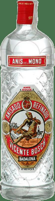 15,95 € Envío gratis | Anisado Anís del Mono Dulce España Botella Mágnum 1,5 L