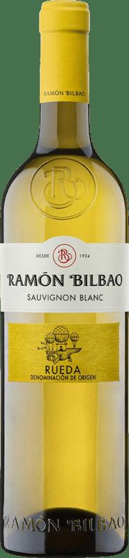9,95 € Envoi gratuit | Vin blanc Ramón Bilbao Joven D.O. Rueda Castille et Leon Espagne Sauvignon Blanc Bouteille 75 cl