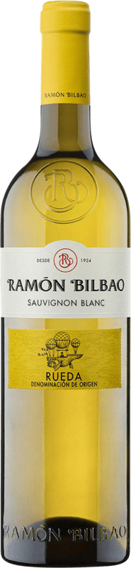 9,95 € Free Shipping | White wine Ramón Bilbao Joven D.O. Rueda Castilla y León Spain Sauvignon White Bottle 75 cl