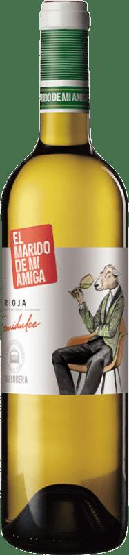 7,95 € | White wine Vallobera El Marido de mi Amiga Joven D.O.Ca. Rioja The Rioja Spain Tempranillo, Malvasía, Sauvignon White Bottle 75 cl