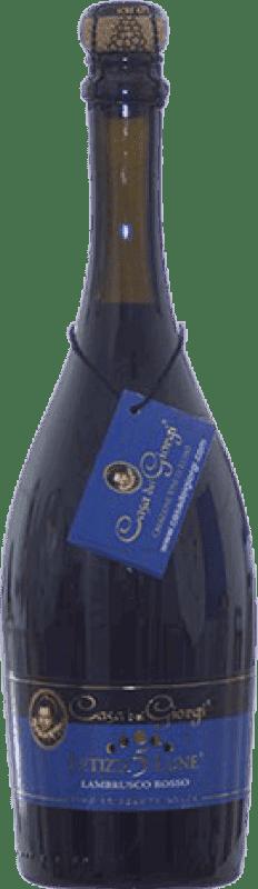 11,95 € 免费送货 | 红汽酒 Dei Giorgi Letizia 5 Lune Rosso 甜美 D.O.C. Lambrusco di Sorbara 意大利 Lambrusco 瓶子 75 cl