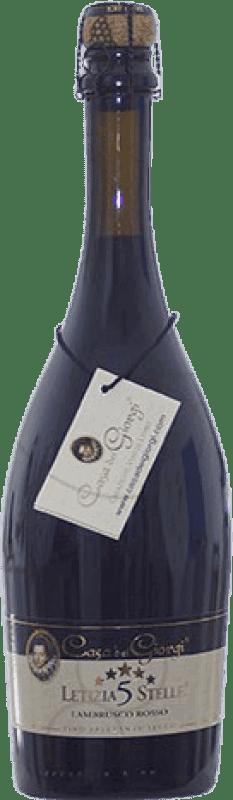 9,95 € Envío gratis | Espumoso tinto Dei Giorgi Letizia 5 Stelle Rosso Seco D.O.C. Lambrusco di Sorbara Italia Lambrusco Botella 75 cl