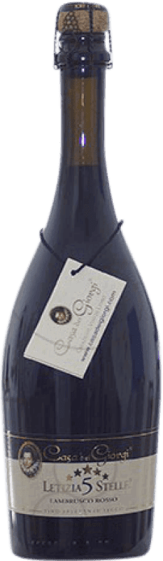 9,95 € Envoi gratuit | Rouge moussant Dei Giorgi Letizia 5 Stelle Rosso Sec D.O.C. Lambrusco di Sorbara Italie Lambrusco Bouteille 75 cl