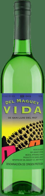 42,95 € 免费送货   梅斯卡尔酒 Maguey Vida Espadín 墨西哥 瓶子 70 cl