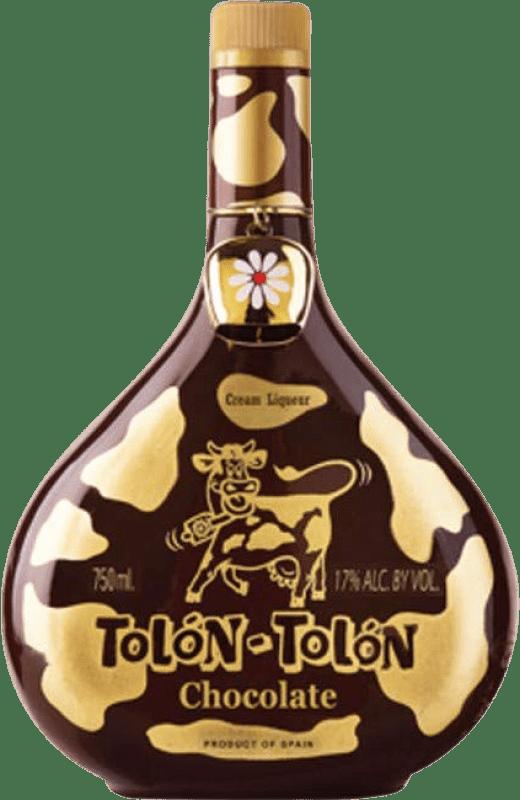 12,95 € Envío gratis | Crema de Licor Campeny Tolon-Tolon Chocolat Cream España Botella 70 cl