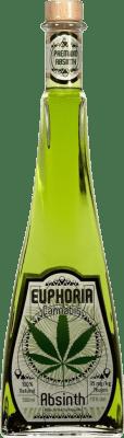 24,95 € Envío gratis | Absenta Hill's Euphoria Cannabis República Checa Media Botella 50 cl