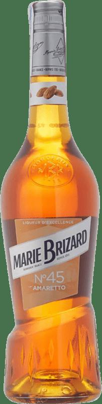 8,95 € Envío gratis | Amaretto Marie Brizard Francia Botella 70 cl