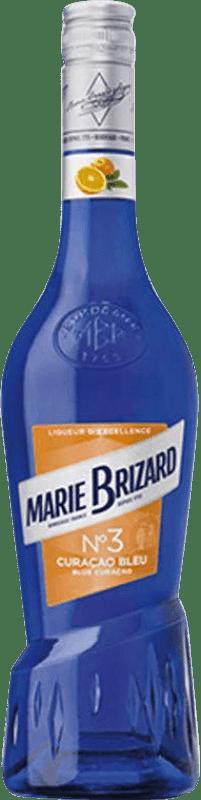 9,95 € Envío gratis | Triple Seco Marie Brizard Curaçao Blue Francia Botella 70 cl