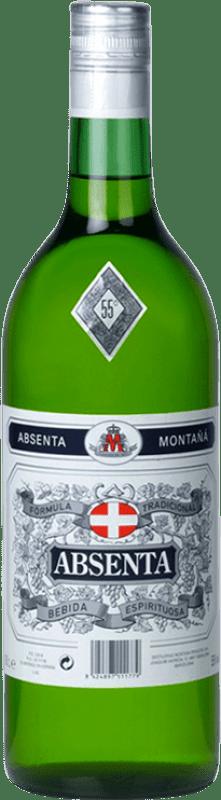 17,95 € Envío gratis | Absenta Montaña España Botella Misil 1 L