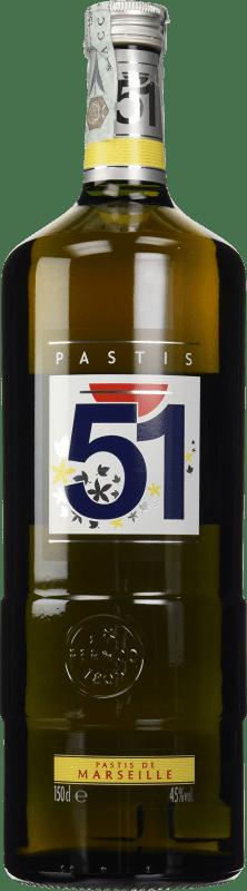 23,95 € Envío gratis | Pastis 51 Francia Botella Mágnum 1,5 L