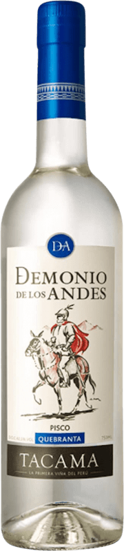 21,95 € 免费送货 | Pisco Viña Tacama Demonio de los Andes Quebranta 秘鲁 瓶子 70 cl