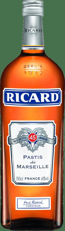 26,95 € 免费送货 | 茴香酒 Pernod Ricard 法国 瓶子 Magnum 1,5 L