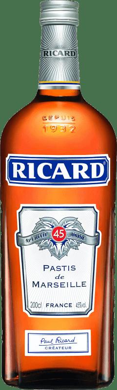 33,95 € Envío gratis | Pastis Pernod Ricard Francia Botella Especial 2 L