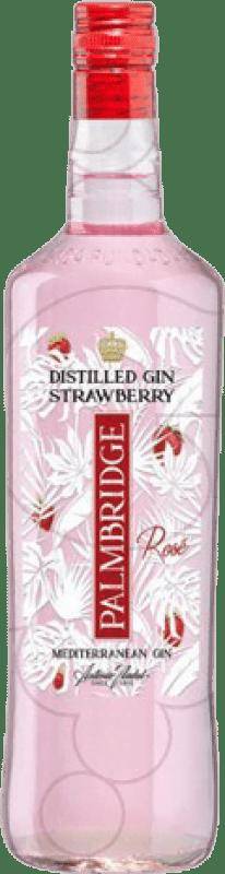 12,95 € Envío gratis | Ginebra Gin Palmbridge Strawberry España Botella Misil 1 L