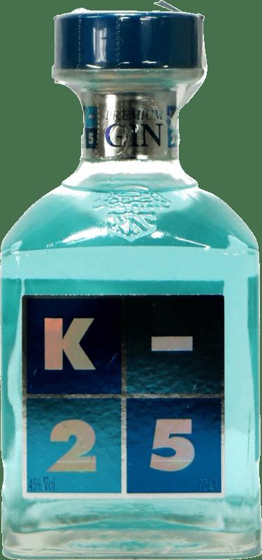 19,95 € Envío gratis | Ginebra K-25 Premium Gin España Botella 70 cl