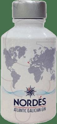 4,95 € Envío gratis | Ginebra Atlantic Galician Nordés Gin España Botellín 5 cl
