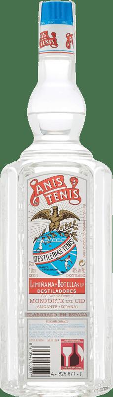 14,95 € Envío gratis | Anisado Tenis Anís Seco España Botella Misil 1 L