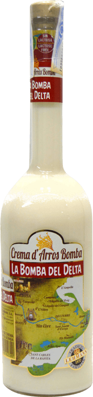 10,95 € Free Shipping | Liqueur Cream Crema d'arros Bomba del Delta Spain Bottle 70 cl
