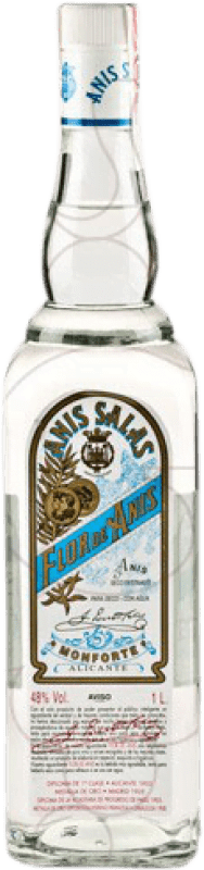 13,95 € Free Shipping | Aniseed Flor de Anís Salas Dry Spain Missile Bottle 1 L