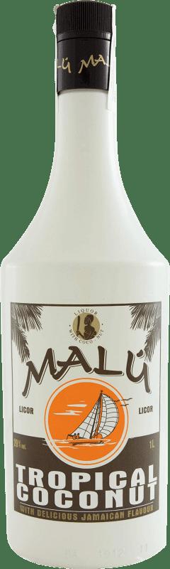 8,95 € Envío gratis | Licores Malú Tropical Coconut España Botella Misil 1 L