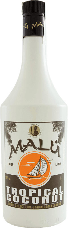 8,95 € Free Shipping | Spirits Malú Tropical Coconut Spain Missile Bottle 1 L