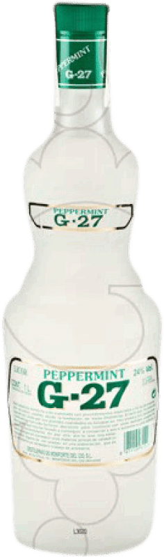 11,95 € Envío gratis | Licores Salas Blanco G-27 Peppermint España Botella Misil 1 L