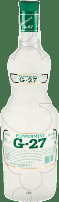 11,95 € 免费送货 | 利口酒 Salas Blanco G-27 Peppermint 西班牙 瓶子 Misil 1 L