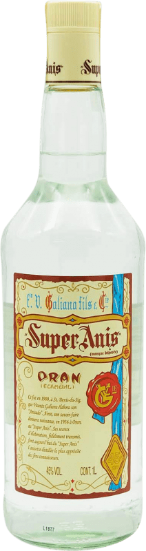 14,95 € Free Shipping | Aniseed Galiana Fils Super Anís Dry Spain Missile Bottle 1 L