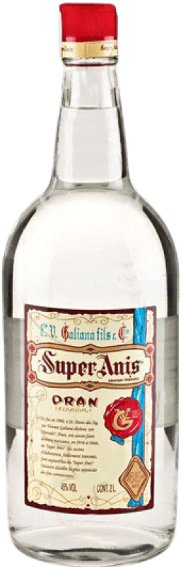 22,95 € Envío gratis | Anisado Galiana Fils Super Anís Seco España Botella Especial 2 L