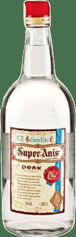 22,95 € 免费送货 | 八角 Galiana Fils Super Anís 干 西班牙 特别的瓶子 2 L