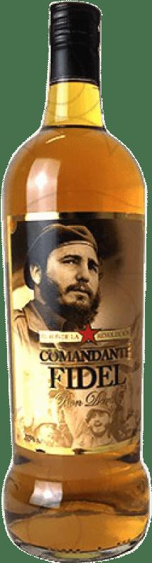 11,95 € Free Shipping | Rum Comandante Fidel Dorado Spain Missile Bottle 1 L