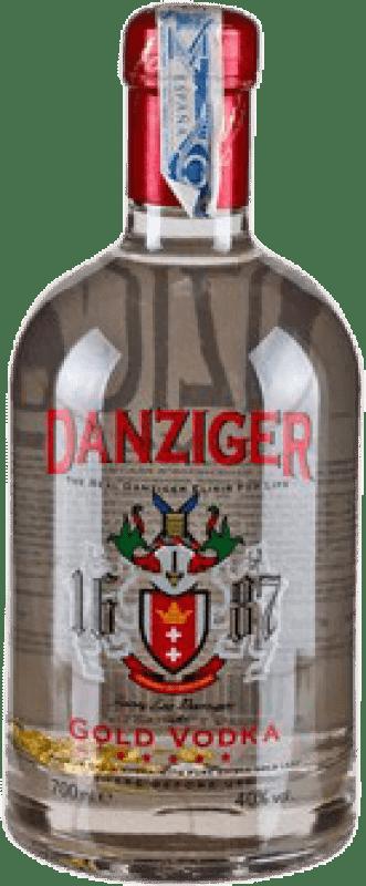 19,95 € Envío gratis | Vodka Danziger Gold Irlanda Botella 70 cl
