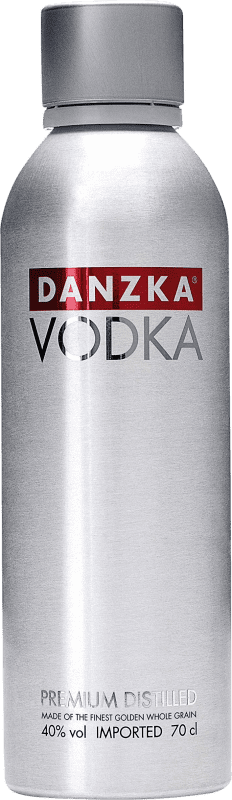 13,95 € Envío gratis | Vodka Danzka Dinamarca Botella 70 cl