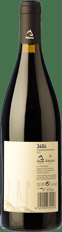 5,95 € Envio grátis | Vinho tinto 3404 de Pirineos Joven D.O. Somontano Aragão Espanha Grenache, Moristel Garrafa 75 cl