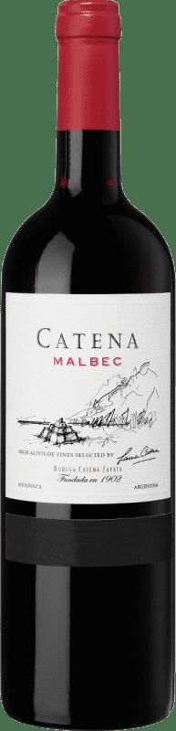14,95 € 免费送货 | 红酒 Catena Zapata Crianza 阿根廷 Malbec 瓶子 75 cl