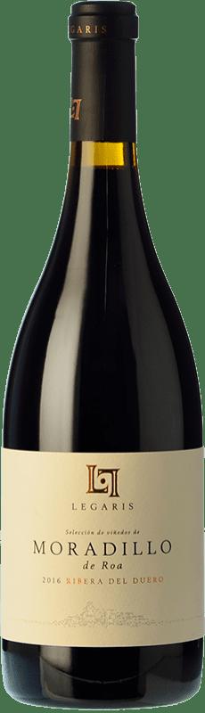 35,95 € 免费送货 | 红酒 Legaris Moradillo de Roa D.O. Ribera del Duero 卡斯蒂利亚莱昂 西班牙 Tempranillo 瓶子 75 cl