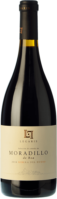 32,95 € Free Shipping | Red wine Legaris Moradillo de Roa D.O. Ribera del Duero Castilla y León Spain Tempranillo Bottle 75 cl