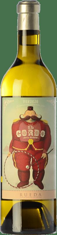 13,95 € Envío gratis | Vino blanco El Gordo del Circo Joven D.O. Rueda Castilla y León España Verdejo Botella 75 cl