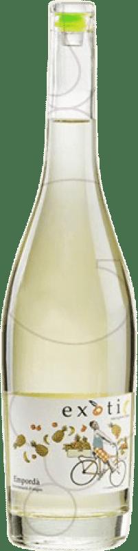 9,95 € Spedizione Gratuita | Vino bianco Exotic Joven D.O. Empordà Catalogna Spagna Sauvignon Bianca Bottiglia 75 cl