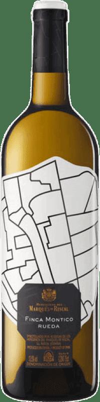 28,95 € Envío gratis | Vino blanco Finca Montico Joven D.O. Rueda Castilla y León España Verdejo Botella Mágnum 1,5 L