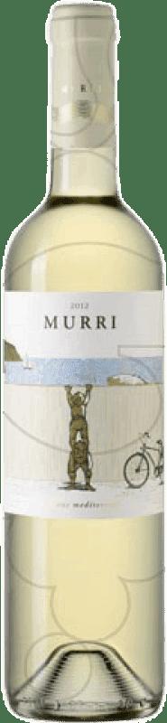 8,95 € Spedizione Gratuita | Vino bianco Murri Blanc Joven D.O. Empordà Catalogna Spagna Grenache Bianca, Macabeo Bottiglia 75 cl
